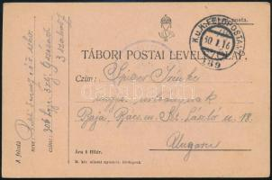 1916 Tábori posta levelezőlap FP 189