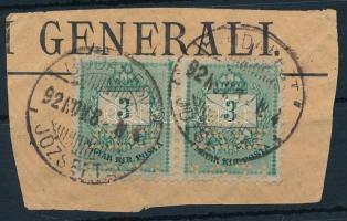 Színesszámú krajcáros pár A G / 1831 perfin (Lente 160 p)