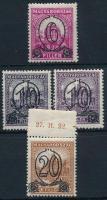 1931 Kisegítő I. 4 db bélyeg, köztük 10/16f különböző fogazatváltozatokban (502A-504A + 503B) (8.000)