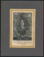 V. Ferdinánd magyar király és császár rézmetszetű portréja kartonra kasírozva 13x7 cm