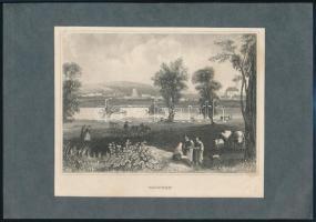 cca 1830 Vác acélmetszet. j.n. 11x15 cm