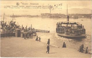 1929 Anvers, Antwerpen; Le bateau Princesse Charlotte / steamship / gőzhajó