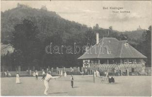 1908 Bad Kissingen, Új sportház teniszezőkkel / Neues Sporthaus / new sport club with tennis players