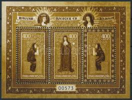 2020 Szentek és boldogok VIII. egyszínű változat. Példányszám: 3.000 / Hungarian Saints and Blesseds monochrome souvenir sheet. Issue: 3.000
