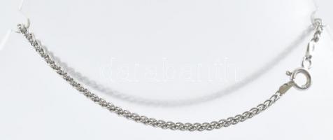 Ezüst(Ag) pancer karkötő, jelzett, h: 19 cm, nettó: 2,2 g