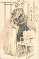 1905 Boldog Karácsonyi ünnepeket / Christmas greeting (kis szakadás / small tear)