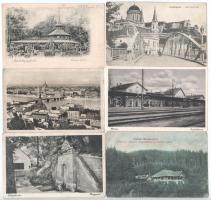 20 db főleg RÉGI történelmi magyar város képeslap vegyes minőségben / 20 mostly pre-1945 historical Hungarian town-view postcards from the Kingdom of Hungary in mixed quality