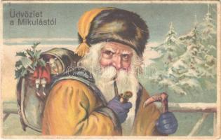 Üdvözlet a Mikulástól / Saint Nicholas. litho (EK)