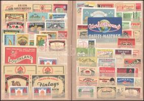 Régi és régebbi gyufacímke gyűjtemény, 5 db berakóban