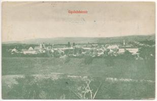 1913 Gyulafehérvár, Alba Iulia; látkép. Weiss Bernát kiadása / general view (ázott / wet damage)