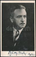 Ajtay Andor (1903-1975) színész, rendező aláírása az őt ábrázoló fotón