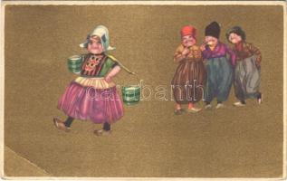 1924 Italian children art postcard. Anna & Gasparini 100-4. (EB)