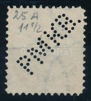 Színes számú krajcáros P.M.K.B. perfin (Lente 100 p)