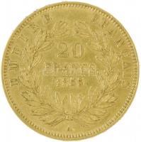 Franciaország / Második Császárság 1855A 20Fr Au III. Napóleon Párizs (6,45g/0.900) T:2- France / Second Empire 1855A 20 Francs Au Napoleon III Paris (6,45g/0.900) C:VF Krause KM# 781