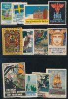 16 db észak-európai országok levélzáró