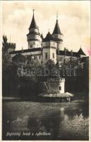 1930 Bajmóc, Bojnice; Bajmóc vára (Gróf Pálffy kastély) / Bojnicky hrad s rybníkom / castle (b)