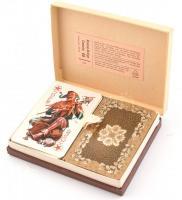 Rommé-Bridge-Canasta kártya, 2 pakli, eredeti dobozában, jó állapotban
