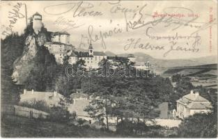 1906 Árvaváralja, Árva-váralja, Oravsky Podzámok; Árva vára. Franz Pietschmann Kunstverlag No. 2093. / Schloß Árva / Oravsky zámok / castle