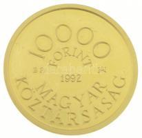 1992. 10.000Ft Au Károly Róbert dísztokban (7g/0.986) T:1 (eredetileg PP) Hungary 1992. 10.000 Forint Au Róbert Károly in case (7g/0.986) C:UNC (originally PP) Adamo EM124