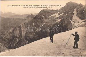 Gavarnie, Le Marboré et le Pic dAstazou, Glacier de la Breche de Roland