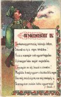 A Menekült IV. Kiadja Deák J. / Hungarian irredenta art propaganda, litho (EK)