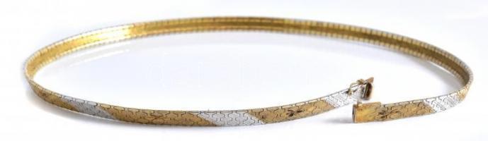 Aranyozott ezüst(Ag) ékszerek, karkötő, nyaklánc, 3 db, jelzettek, nettó: 5061 g