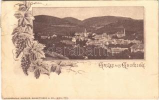 1899 (Vorläufer) Wien, Vienna, Bécs XIX. Grinzing. Art Nouveau, grapes