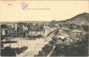 1915 Most, Brüx; Blick vom Turm der Wenzelkirche (EK)