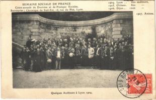 1904 Lyon, Quelques auditeurs, Semaine Sociale De France. TCV card