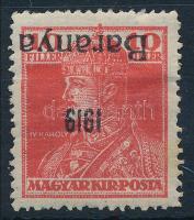 Baranya I. 1919 Károly 10f fordított felülnyomással, Bodor vizsgálójellel (**22.000)