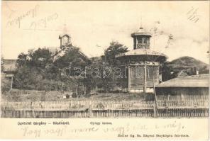 1904 Görgénysóakna, Görgény-Sóakna, Jabenita; gyógyterem. Heiter Gg. fényképész felvétele / spa + GÖRGÉNYSÓAKNA POSTAI ÜGYN.