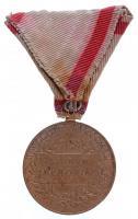 1898. Jubileumi Emlékérem Fegyveres Erő Számára / Signum memoriae (AVSTR) Br kitüntetés nem hozzávaló mellszalaggal T:2- Hungary 1898. Commemorative Jubilee Medal for the Armed Forces decoration with not own ribbon C:VF NMK 249.