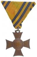 1913. Mozgósítási Kereszt / 1912-1913-as Emlékkereszt Br kitüntetés eredeti mellszalagon T:2 Hungary 1913. Commemorative Cross, 1912-1913 Br decoration with original ribbon C:XF NMK 275.