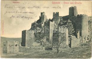 1902 Galambóc, Golubac (Orsova); várrom / castle ruins