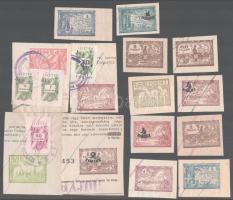 14 db marhalevél bélyeg díjjegy kivágás