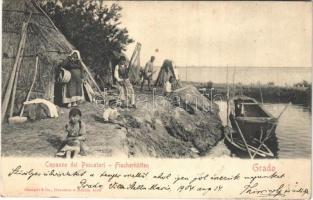 1904 Grado, Capanne dei Pescatori / Fischerhütten / Fishermens huts (EB)