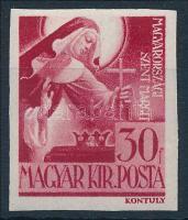 1944 Szent Margit vágott bélyeg (apró ránc/small crease) (12.000)