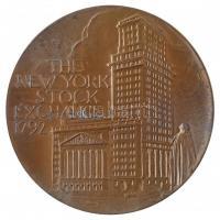 Amerikai Egyesült Államok 1997. New York-i Értéktőzsde 1792 kétoldalas Br emlékérem (76mm) T:2,2- USA 1997. The New York Stock Exchange 1792 two-sided Br medallion (76mm) C:XF,VF