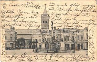 1903 Wolczyn, Konstadt; Platz / square, shop of J. Langer (EK)