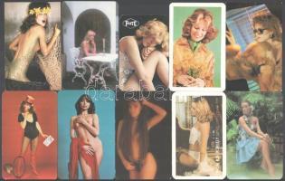 1976-1989 10 db nőket ábrázoló kártyanaptár