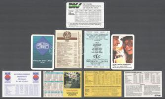 1974-1985 9 db német nyelvű kártyanaptár