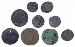 Római Birodalom 9db-os érmetétel a II-IV. századból T:2-,3 Roman Empire 9pcs coin lot from the 2nd-4th century C:VF,F