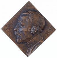Osztrák-Magyar Monarchia 1914. Josef Kappler egyoldalas, négyzet alakú, öntött Br plakett. MÚJ HEITMAN V. KAPPLER / Q. SVEC 1914 (77x77mm) T:2  Austro-Hungarian Monarchy 1914. Josef Kappler one-sided, square-shaped, cast Br plaque (77x77mm) C:XF