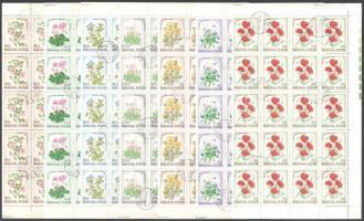 1973 Virág (X.) - Erdő-mező virágai sor hajtott teljes ívekben (8.500)