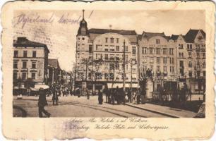 1918 Lviv, Lwów, Lemberg; Plac Halicki i ul. Walowa / square, street, Bank Lwowski (EK)