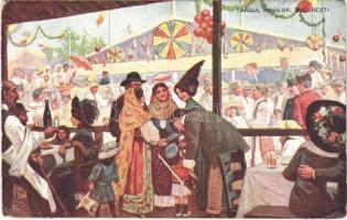 1912 Bucharest, Bukarest, Bucuresti, Bucuresci; Targul Mosilor / fair (EK)