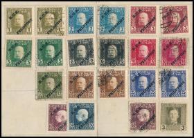 1915-1917 21 db bélyeg