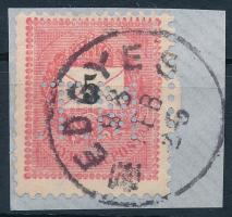 Fekete számú krajcáros M.T. perfin (Lente 40 p)