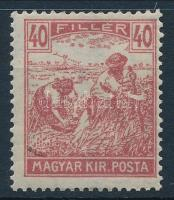 1920 Arató 40f papírhiba
