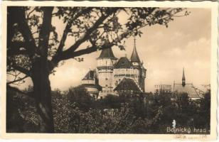 Bajmóc, Bojnice; Gróf Pálffy várkastély / Bojnicky hrad / castle (ragasztónyom / glue mark)